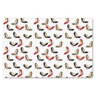 Papel seda elegante de los tacones de aguja papel de seda pequeño