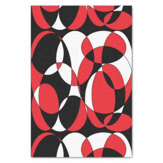 Papel seda elíptico del negro, blanco y rojo