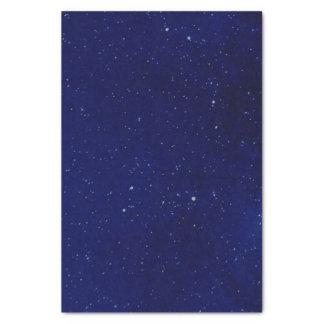 Papel seda estrellado azul profundo del cielo papel de seda pequeño