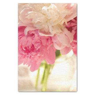 Papel seda floral rosado del personalizado 10lb papel de seda pequeño