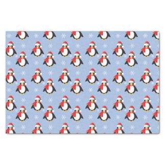 Papel seda lindo del modelo de los pingüinos del