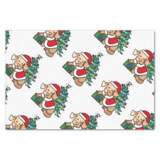 Papel seda lindo estupendo del perro del navidad papel de seda pequeño