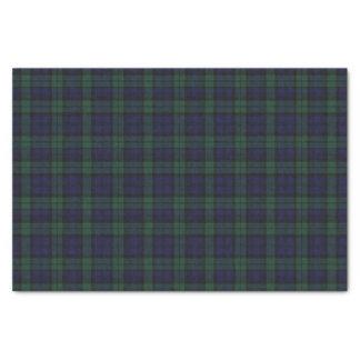 Papel seda negro de la tela escocesa de tartán del papel de seda pequeño