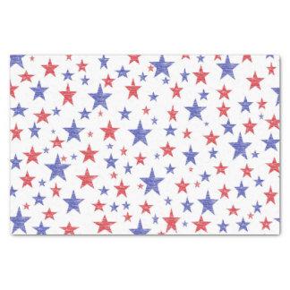 Papel seda patriótico de las estrellas papel de seda pequeño