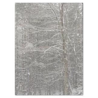 Papel seda que cae de la nieve papel de seda grande