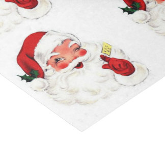 Papel seda retro del navidad del regalo de Santa Papel De Seda Pequeño