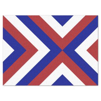 Papel seda rojo, blanco, y azul de los galones papel de seda grande