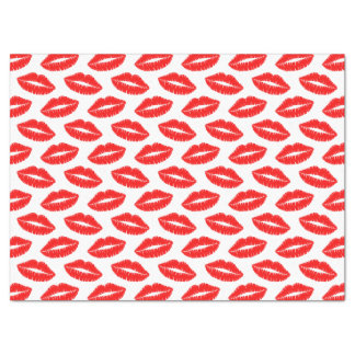 Papel seda rojo del beso del lápiz labial papel de seda grande