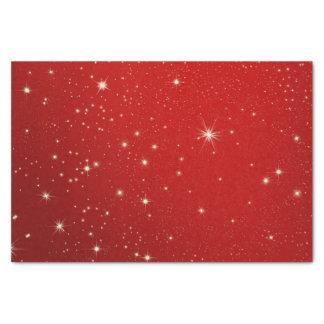 Papel seda rojo estrellado del cielo nocturno del papel de seda pequeño