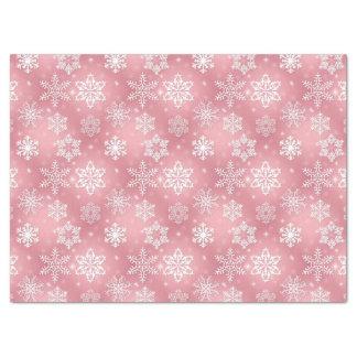 Papel seda rosado del modelo del copo de nieve papel de seda grande