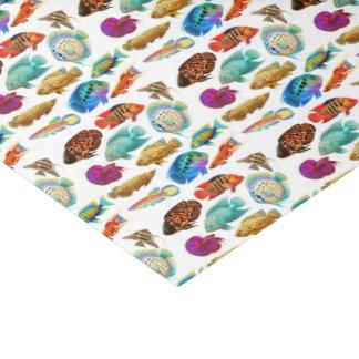 Papel seda tropical de los pescados del acuario papel de seda pequeño
