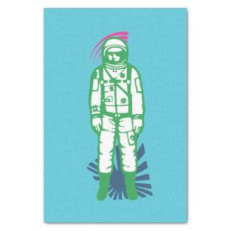 Papel seda verde abstracto del astronauta papel de seda pequeño