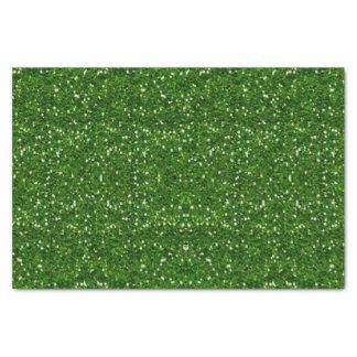 Papel seda verde del brillo papel de seda pequeño