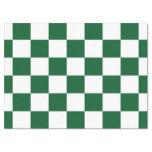 Papel seda verde y blanco a cuadros