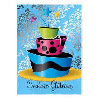 Papel superior azul multi de la perla de Gâteaux d Tarjetas De Negocios
