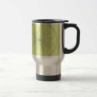 Papel verde de la impresión taza de viaje