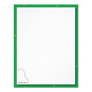 Papel verde del decreto del piano de cola membrete personalizado