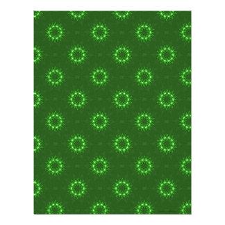 Papel verde del libro de recuerdos de la estrella membrete