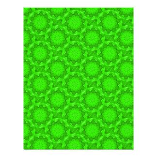Papel verde del libro de recuerdos de la flor plantilla de membrete