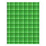 Papel verde del libro de recuerdos de la tela esco membretes personalizados