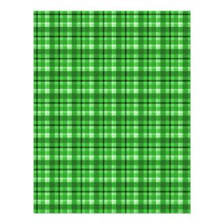 Papel verde del libro de recuerdos de la tela esco plantilla de membrete