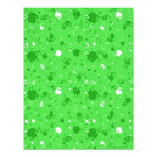 Papel verde del libro de recuerdos de Swirly Membrete Personalizado