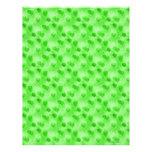 Papel verde del libro de recuerdos del corazón plantilla de membrete