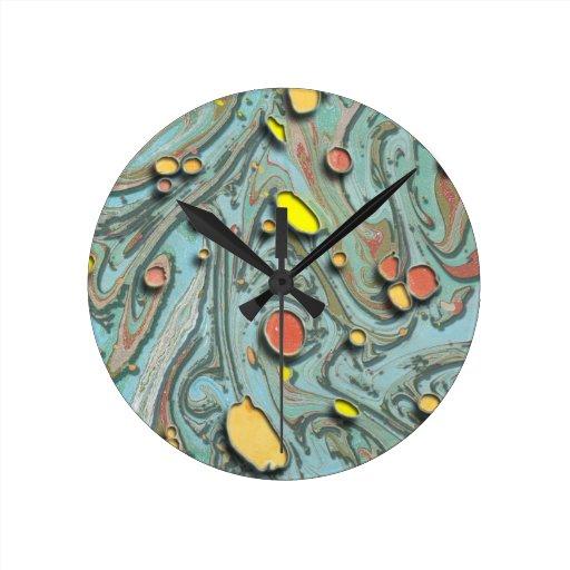 Papel veteado aumentado relojes