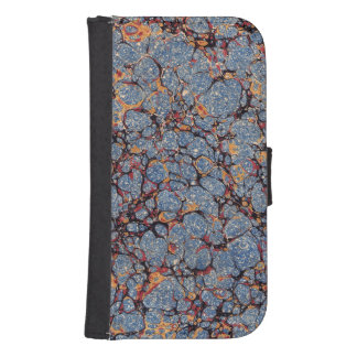Papel veteado de la piedra azul fundas billetera para teléfono