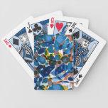 Papel veteado del azul baraja cartas de poker