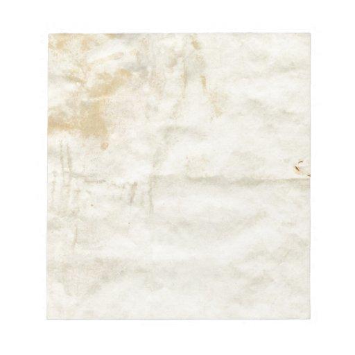 Papel viejo bloc de notas