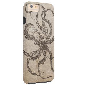 Papel viejo de la vida del océano de los Critters Funda Para iPhone 6 Plus Tough