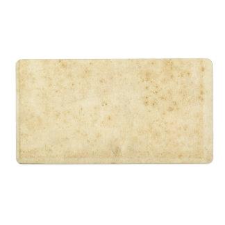 Papel viejo en blanco antiguo manchado rústico etiquetas de envío
