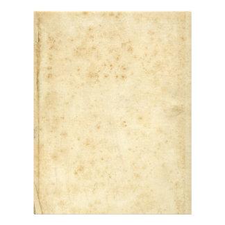Papel viejo en blanco antiguo manchado rústico membrete
