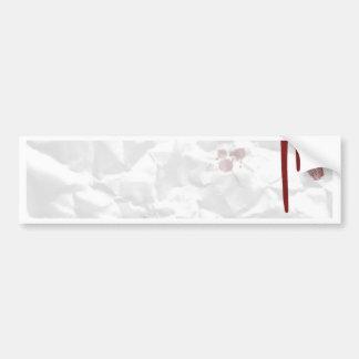 papel viejo etiqueta de parachoque