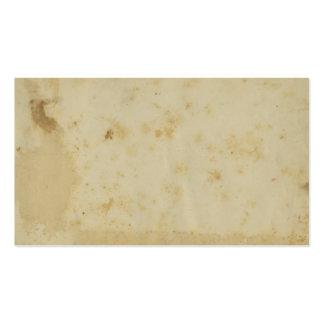 Papel viejo manchado antigüedad en blanco de los tarjetas de visita