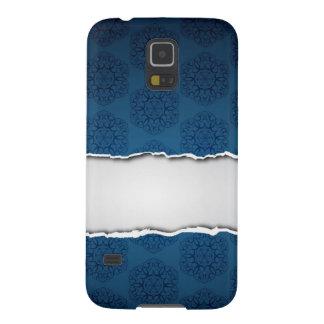 Papel y palmadita rasgados azules carcasas de galaxy s5