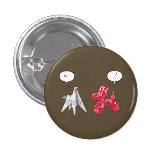 Papel y perro de Baloon Pin