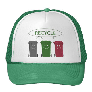 Papeleras de reciclaje gorros