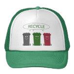 Papeleras de reciclaje gorros bordados