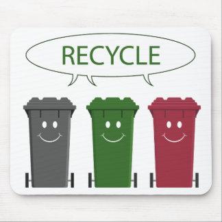 Papeleras de reciclaje alfombrillas de ratón