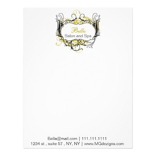 papeles con membrete elegantes amarillos, blancos plantilla de membrete