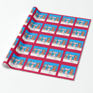 Papeles de embalaje de los animales del navidad
