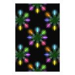 Papeles de Scrapbooking de las luces de navidad Papelería Personalizada
