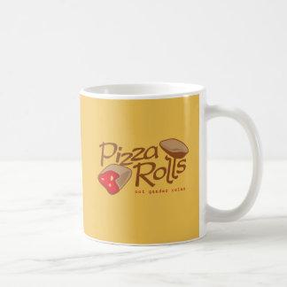 Papeles del género de Rolls de la pizza no Taza Básica Blanca