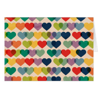 PAPER019 COLORFUL HEARTS PATTERNS TEMPLATES LAYERE GREETING CARD