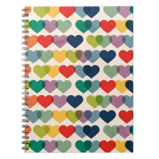 PAPER019 COLORFUL HEARTS PATTERNS TEMPLATES LAYERE NOTEBOOK