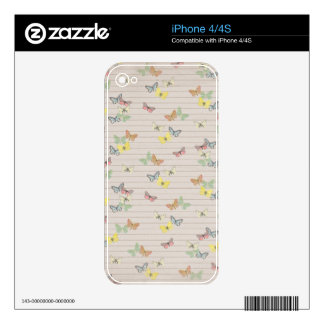 PAPER041 CUTE NEUTRAL YELLOW MINT GREEN LIGHT BROW iPhone 4 SKINS
