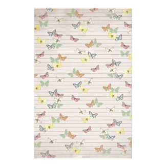 PAPER041 CUTE NEUTRAL YELLOW MINT GREEN LIGHT BROW STATIONERY DESIGN