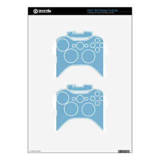 paper074 BABY SKY BLUE CIRCLE PATTERNED TEXTURED Xbox 360 Controller Skin